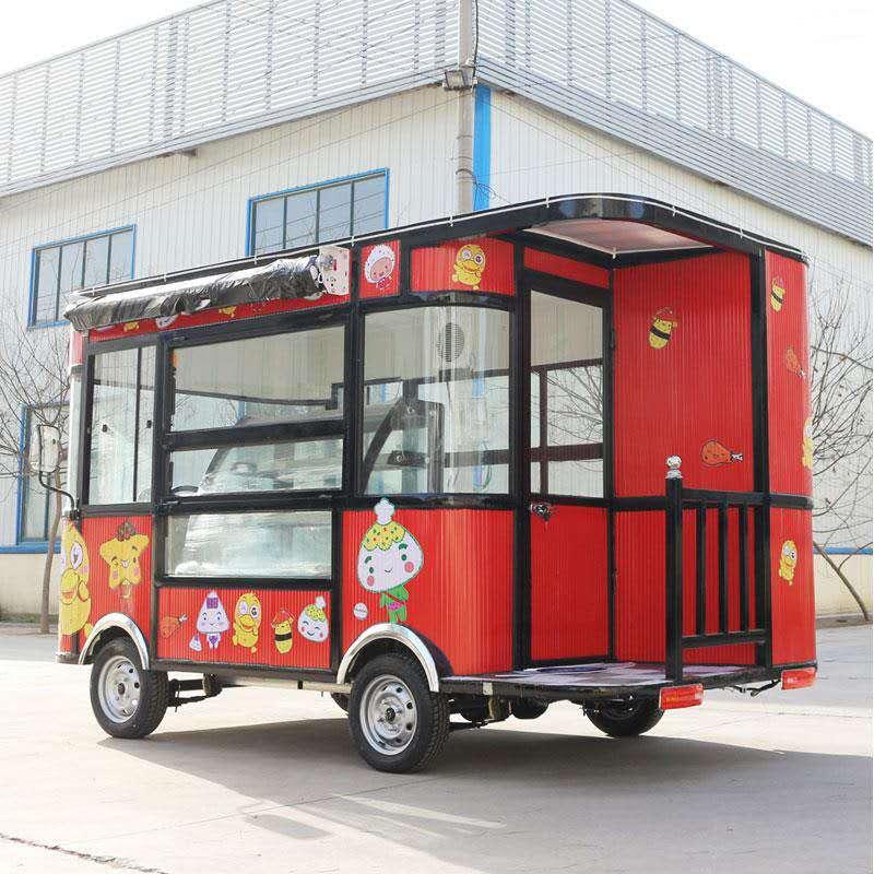 出口美食小吃车|具有口碑的美食电动餐车报价
