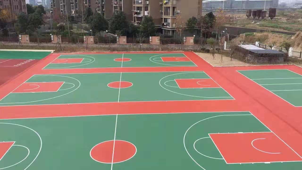 宁波篮球场-塑胶篮球场-硅pu篮球场施工