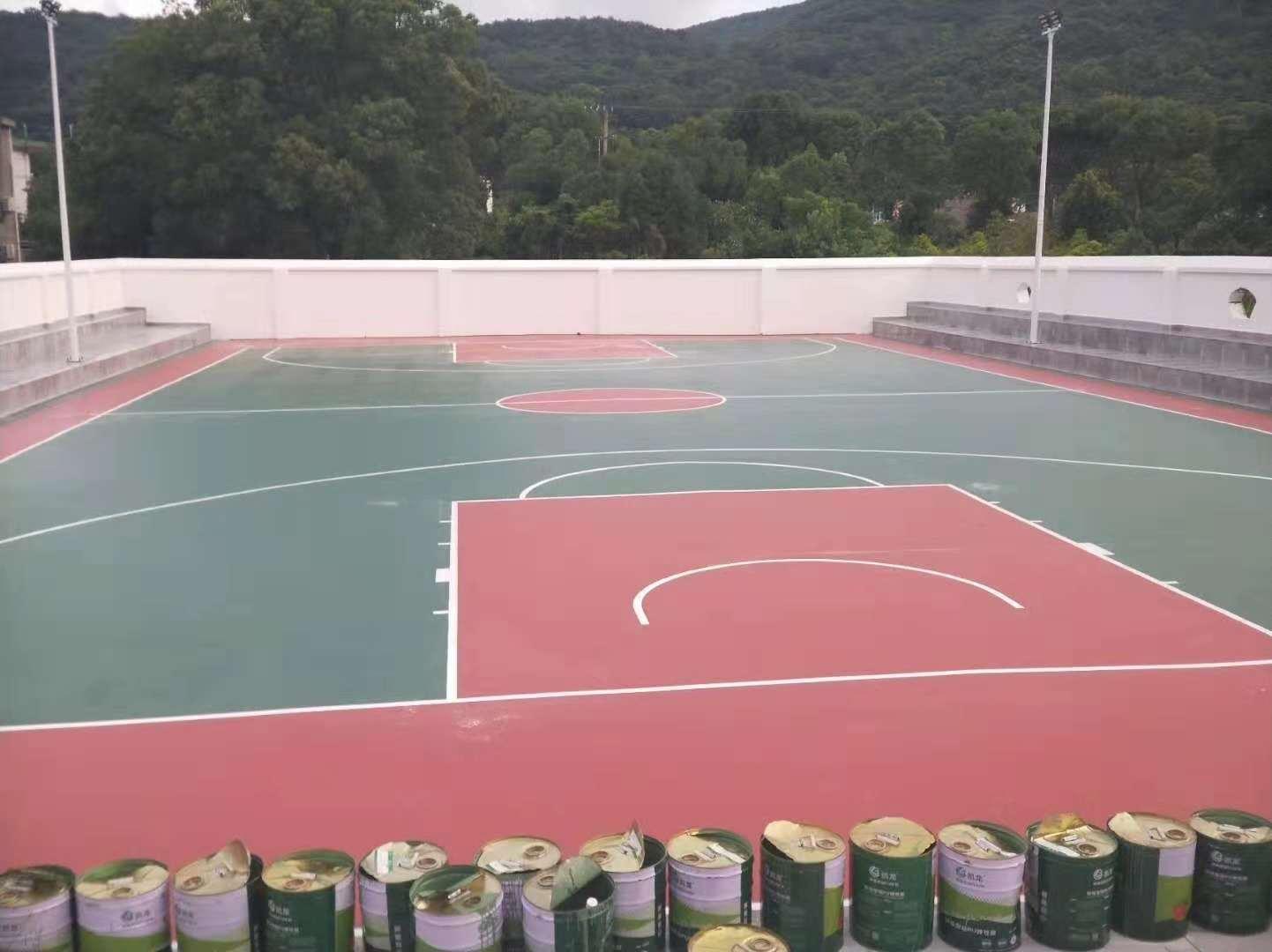 硅PU籃球場|選購優良的籃球場,就來華速新材料