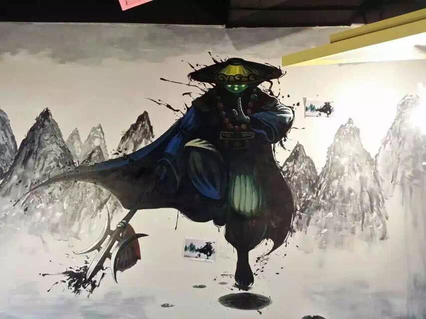 【求推荐】潍坊有没有画墙绘 手绘 壁画 3d彩绘墙的?