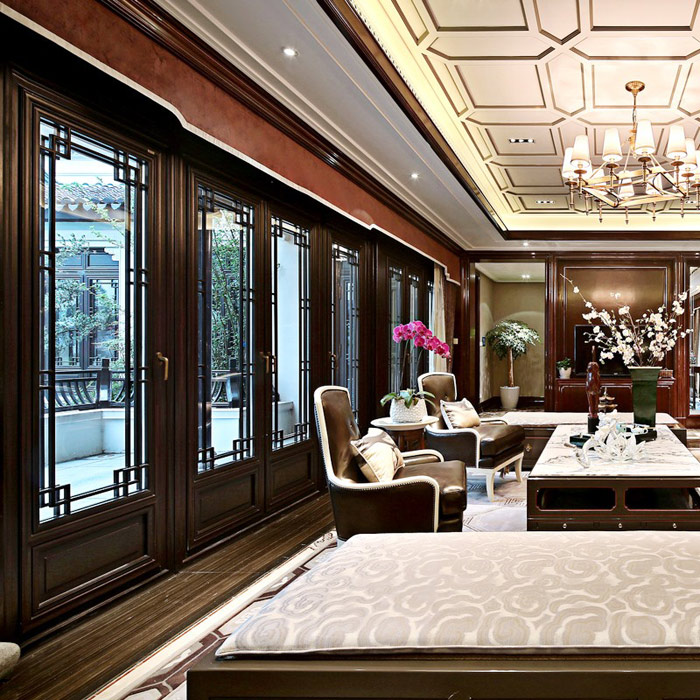 信阳墨瑟中国风实木门窗