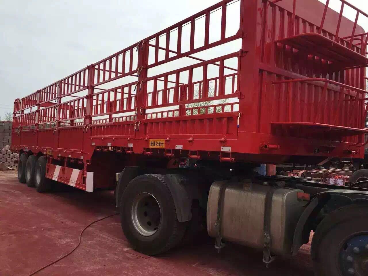 黑龙江全新仓栏半挂车订做-梁山龙宇货运服务提供专业的仓栏半挂车