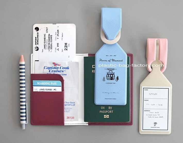 鸿泰PVC胶袋厂提供?#24085;糚VC行李托运吊牌 PVC行李牌