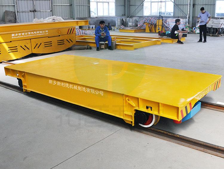 新乡定制车间转运工具电动平车 蓄电池供电型无轨道搬运台车