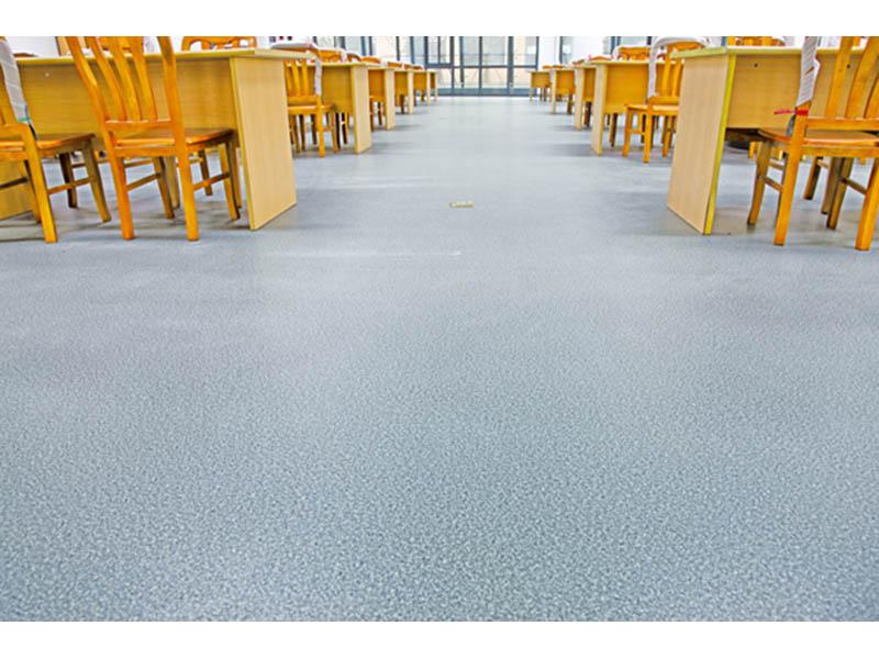 甘肃优惠的兰州PVC塑胶地板 兰州悬浮彩砂地坪哪里有