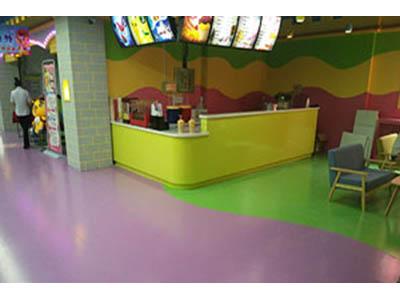 兰州泰鸿信体育不错的兰州PVC塑胶地板供应_悬浮彩砂地坪施工
