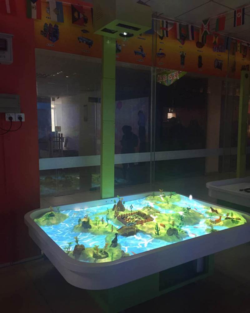 互动沙桌投影魔幻沙盘儿童淘气堡厂家批发定制内容