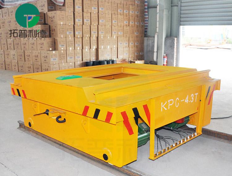 滑触线45吨转弯式电动平车 移动升降轨导平台车驳运设