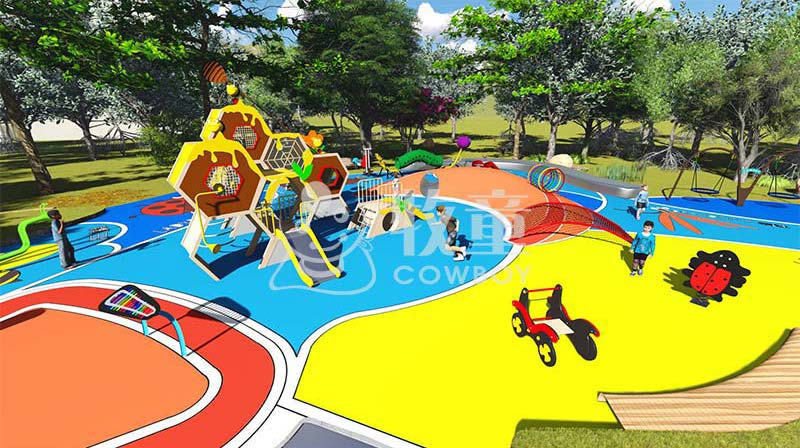 户外无动力儿童乐园设计方案|儿童主题乐园设备定制