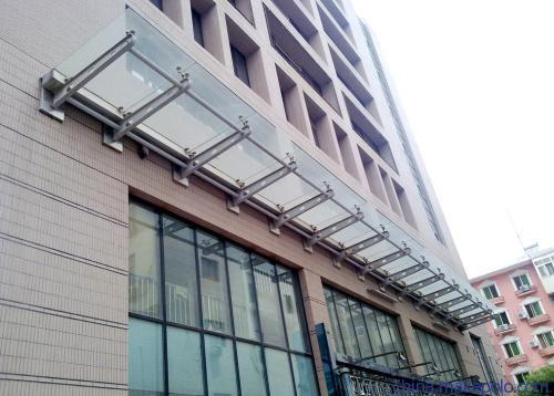 渭南玻璃雨棚生产商_大量出售陕西好的铜川玻璃雨棚