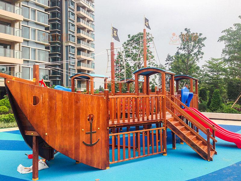 小区公园儿童滑梯-广东户外滑梯定制
