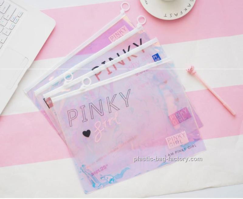 鸿泰PVC胶袋厂供应优良的镭射膜PVC文件袋 辽阳镭射膜PVC文件袋