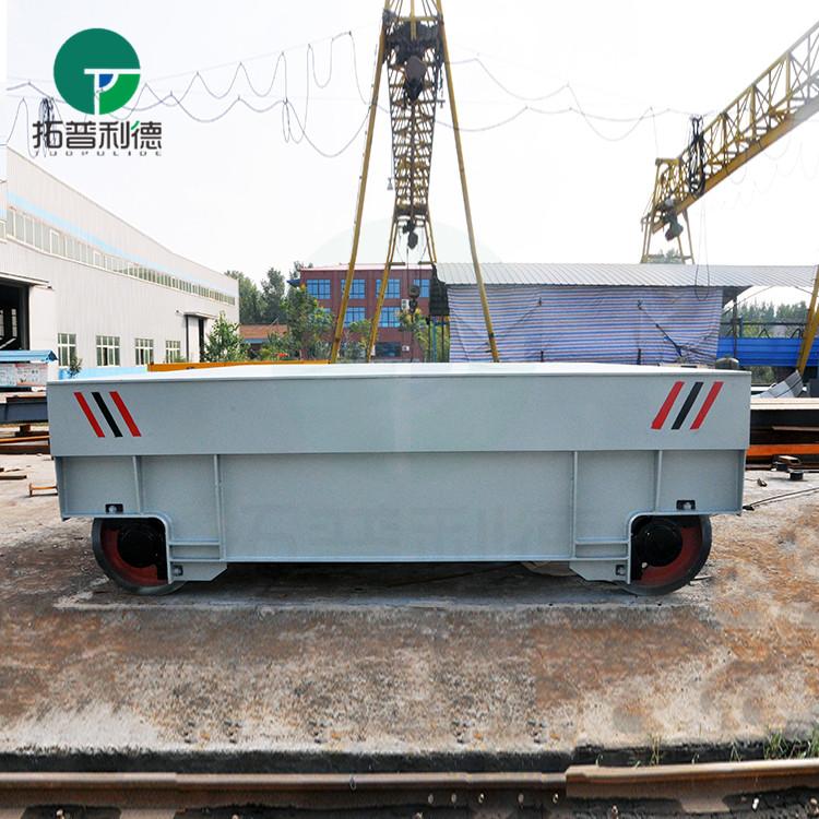 龙门吊配套5吨电动轨道平车 电动过跨工具车专利产品