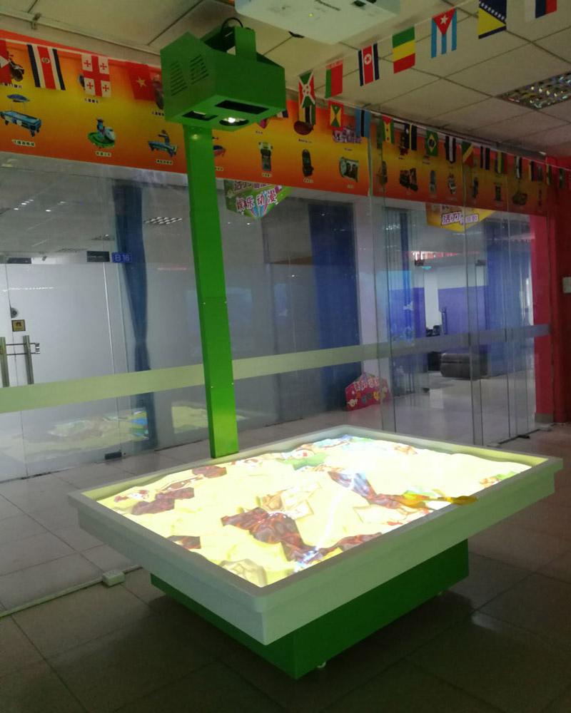AR互动沙桌投影魔幻沙盘桌面游戏定制批发儿童互动投影游戏