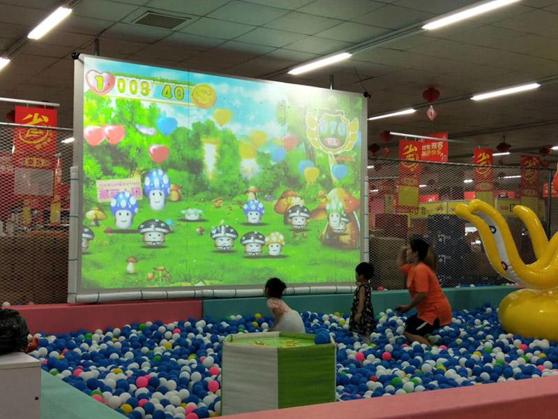 3D互动投影砸球游戏厂家墙面投影设备