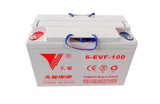 天能蓄电池6-EVF-100 12V100AH电动汽车观光车
