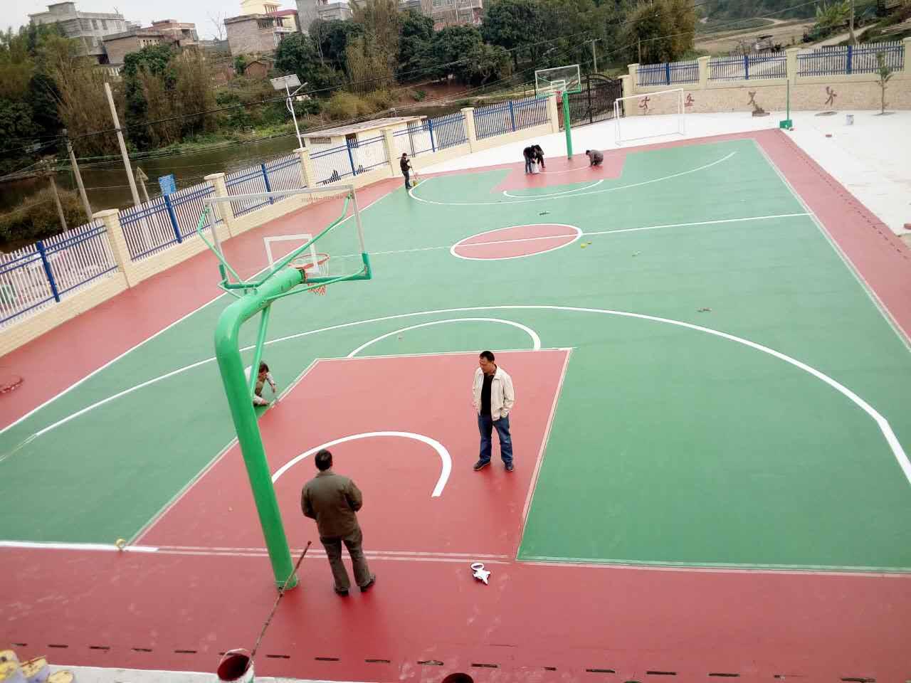 南寧丙烯酸籃球場施工-廣西優惠的廣西丙烯酸籃球場供應