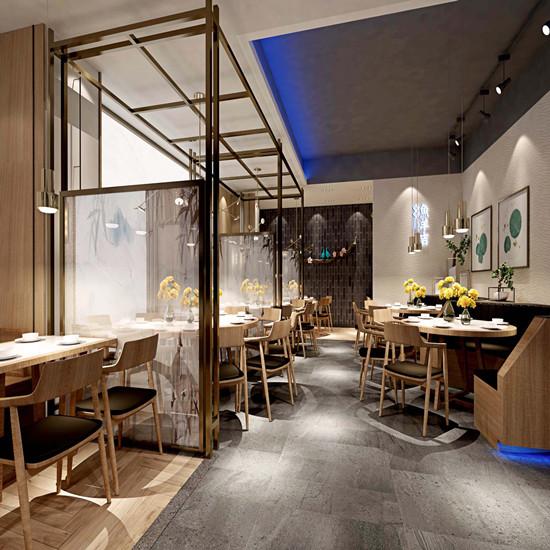 500平方湘里人家中式餐廳裝修設計 怎樣做河南餐飲平面設計