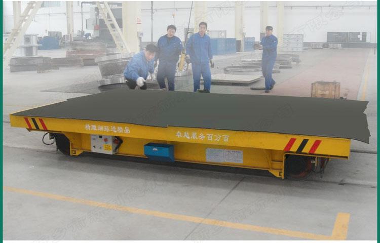 非标定制铝制品运输电动轨道平车 大型平板车轨道地爬车