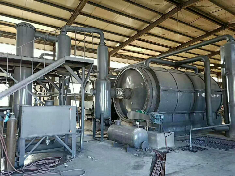 废轮胎综合利用项目|大量供应高性价卧式旋转新型裂解设备