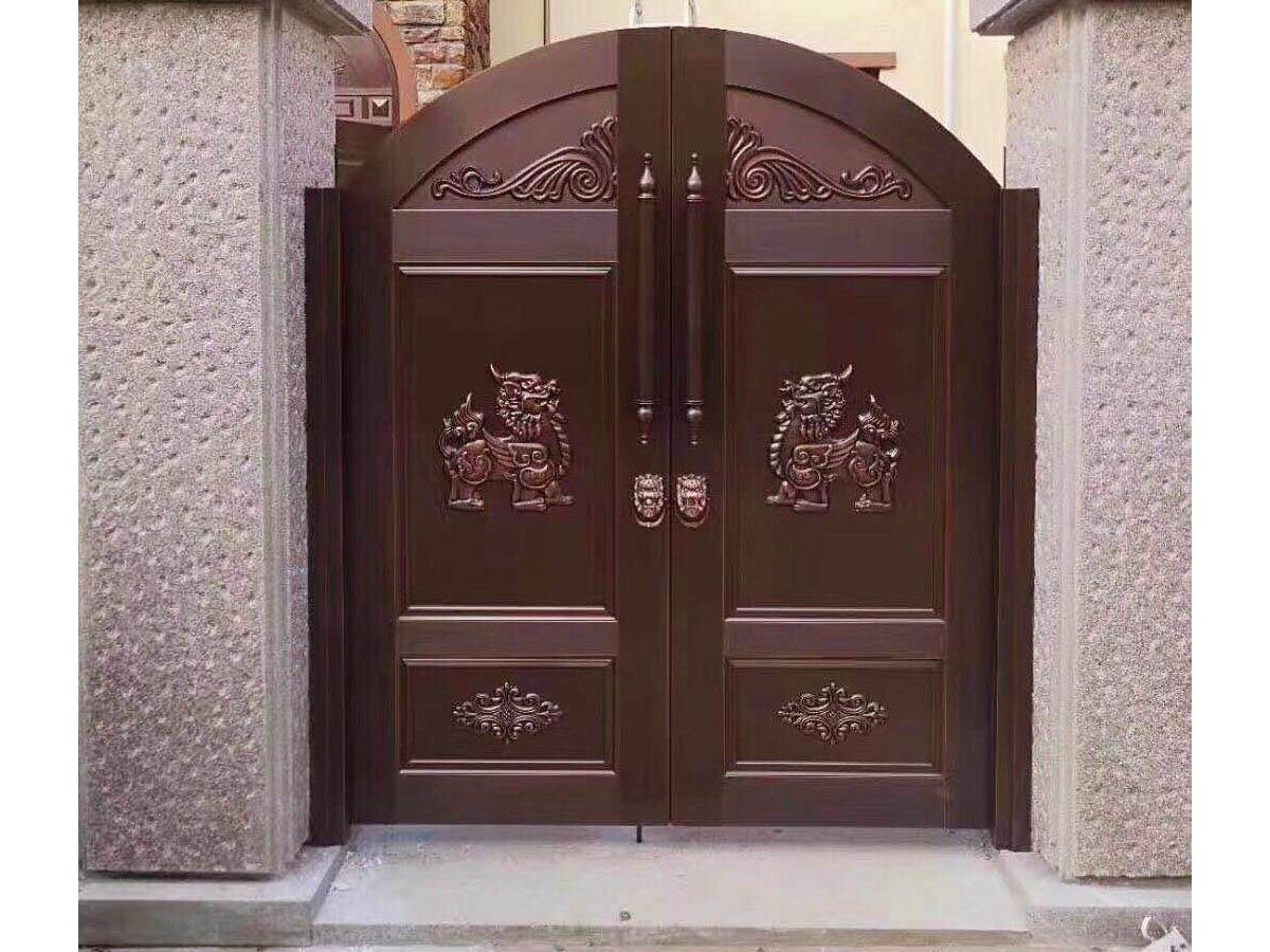 中牟庭院銅門批發|山鼎門業提供的庭院銅門口碑怎么樣