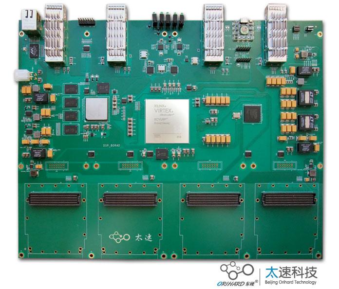 410-基于XCVU9P+C6678的40G光纤加速卡