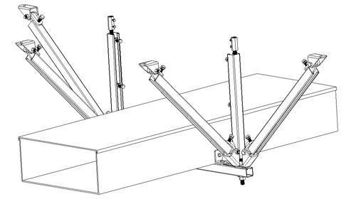 风管双向抗震支架批发-抗震支架