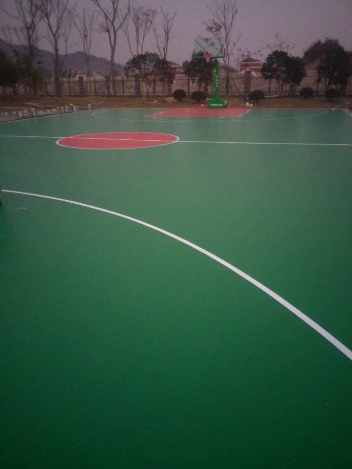 宁波硅PU球场-橡胶篮球场地-篮球场施工