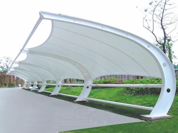 宁夏户外遮阳-鸿运遮阳篷-膜结构-
