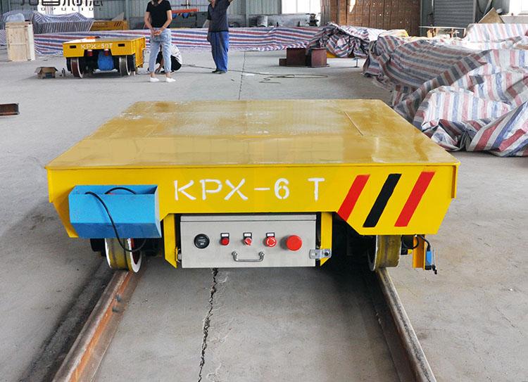 供应厂房蓄电池动力物料输送轨道电动平车 拓普利德过跨车