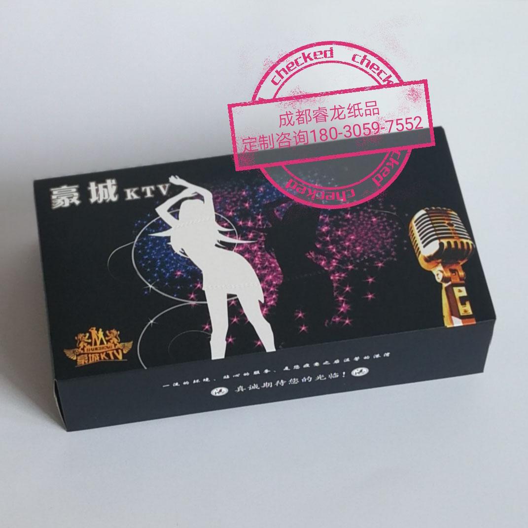 成都睿龙纸品厂优势供应酒吧方巾纸♂KTV盒装方巾纸实力厂家
