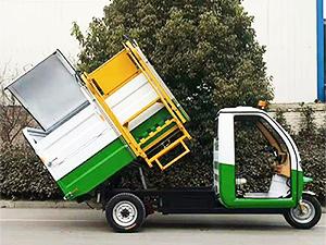 郑州专业的翻桶垃圾车供应商 天津电动环卫车翻桶垃圾车清运车