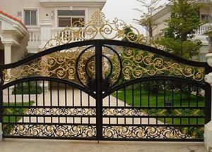 西安鐵藝大門定做-供應西安口碑好的西安鐵藝大門