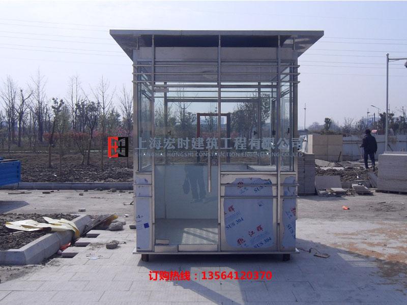 工厂岗亭|上海宏时建筑工程高性价不锈钢岗亭新品上市