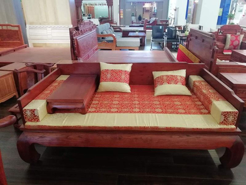 【老木匠家具】烟台香椿木床定做 烟台香椿木床价格