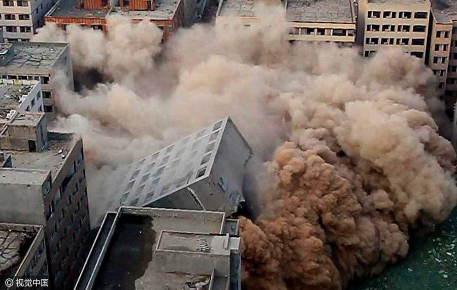 渭南烟囱拆除工程-有保障的陕西房屋拆迁就在诚信
