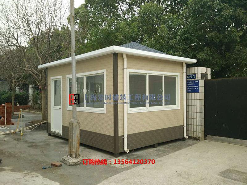 小区岗亭|有品质的金属雕花板岗亭上海宏时建筑工程供应