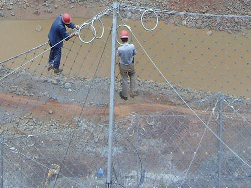 滑坡边坡被动防落网_斜坡边坡防护被动网_被动拦石网