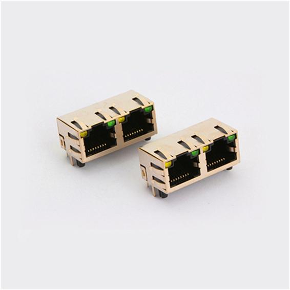 立式插座-买合格的双口带灯RJ45插座,就选乐清国祥电子