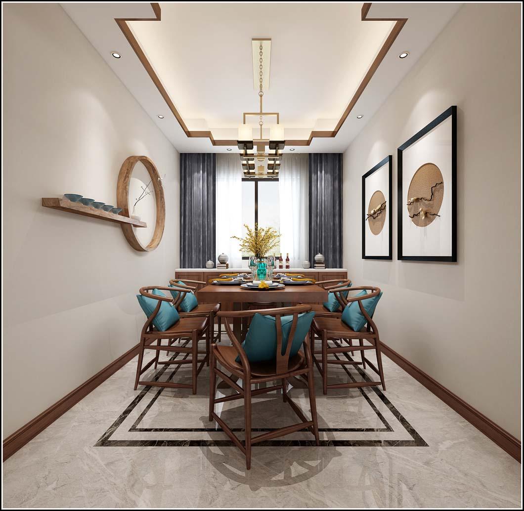 青岛开发区高品质装修公司-中式风格设计-星光岛装修设计