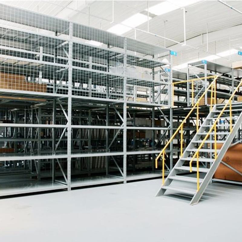 高密阁楼式仓储货架厂家供应,青岛阁楼式货架价格范围