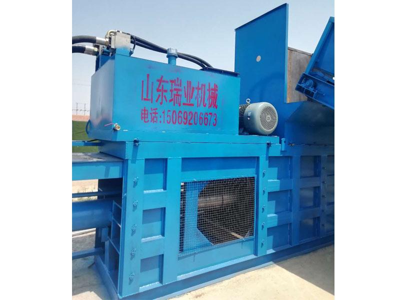 瑞业机械专业的卧式半自动打包机出售-天津废纸自动打包机