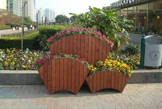 阿勒泰塑木花箱价格-沃森永恒城市景观设施-新疆塑木花箱花架