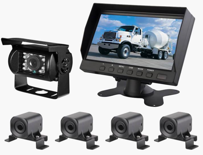 环卫车可视倒车雷达系统,工程车可视倒车雷达系统