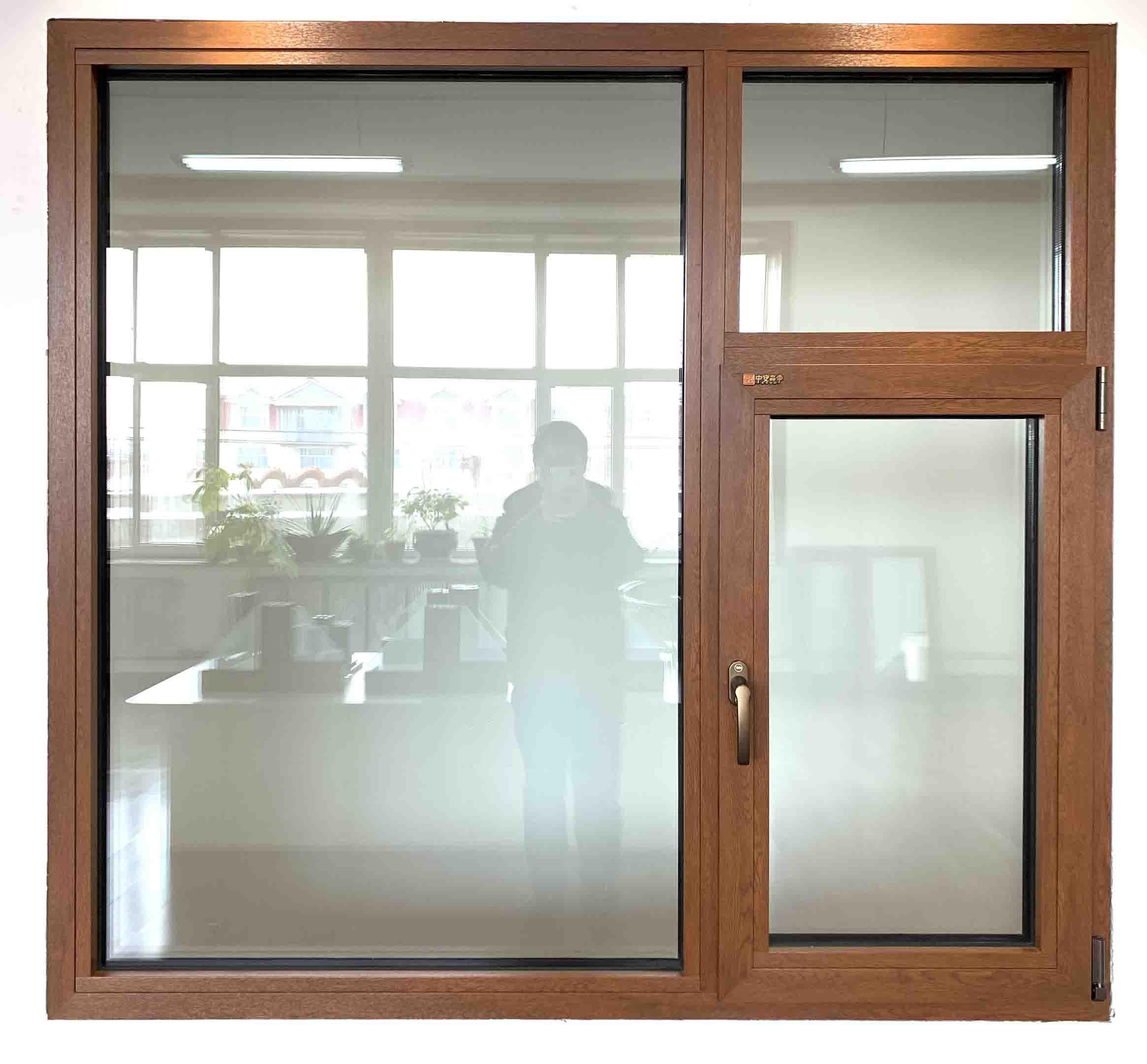 牡丹江中安塑胶有限公司信誉好的牡丹江木铝复合门窗销售商 牡丹江黑龙江门窗