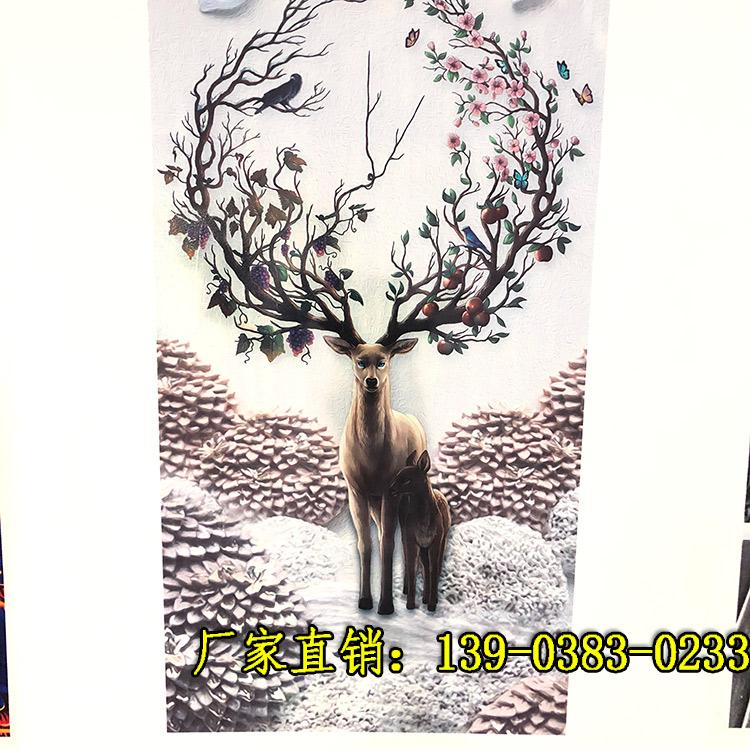 墙体3d彩绘打印机价格墙体工业机墙画机5D效果喷绘
