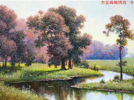 朝鲜油画_精美艺术品 朝鲜风景油画厂家