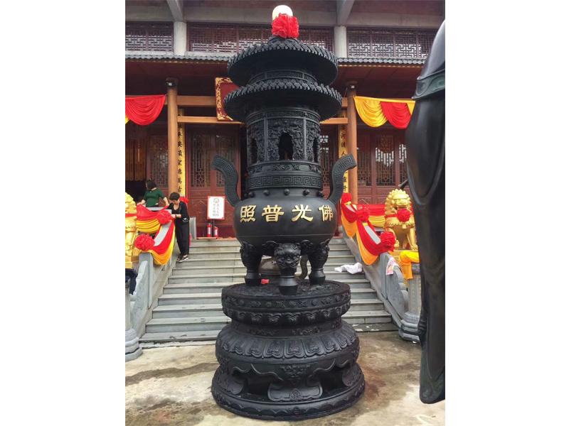 寺庙大宝鼎,铜宝鼎,宗教法器生产厂