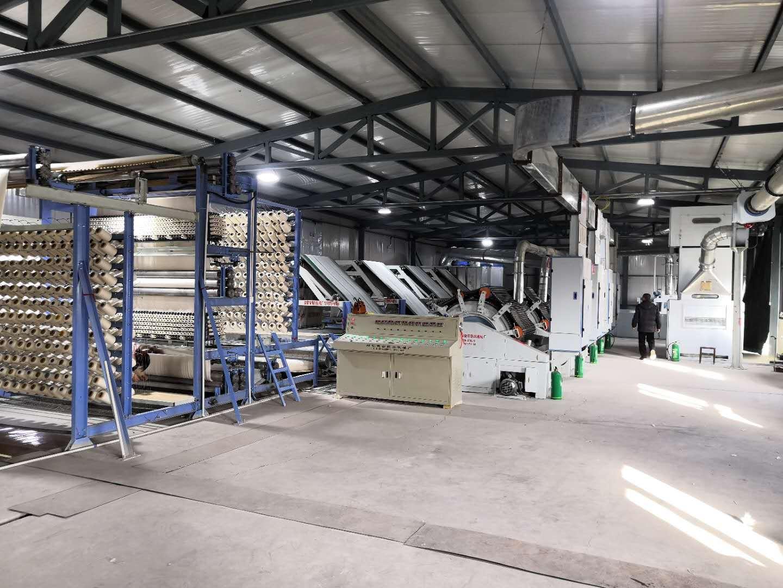 棉胎生产线
