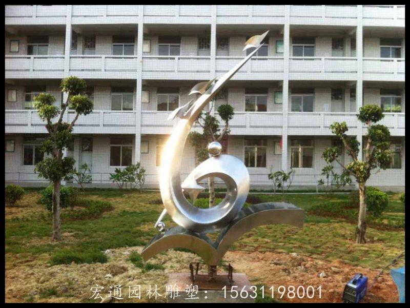飛向未來不銹鋼校園雕塑廠家